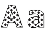 Die-Cut Letters for Bulletin Boards (Black & White Polka Dots)