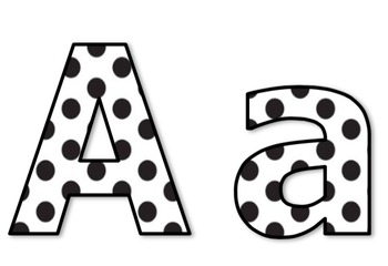 polka dot letters die cut letters for bulletin boards black white polka 24021 | original 2345106 1