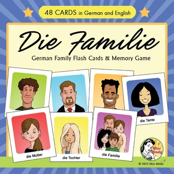 Die Familie German Family Flash Cards & Memory Game (Conce