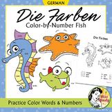 Die Farben German Colors Color by Number Coloring Worksheets