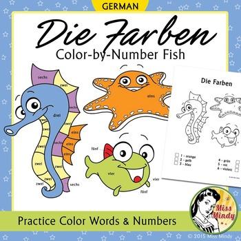 die farben german colors color by number coloring worksheets by miss mindy. Black Bedroom Furniture Sets. Home Design Ideas