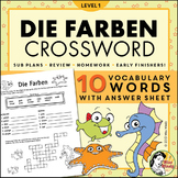 Die Farben German Colors Crossword Puzzle