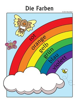 Die Farben German Colors Rainbow Coloring Page