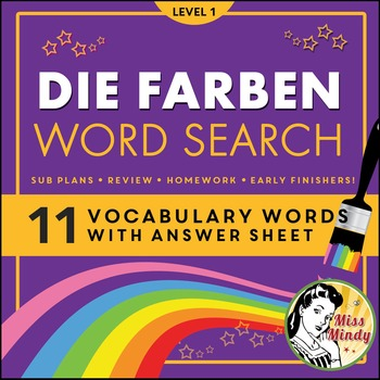 Short And Long Term Goals Worksheet Word Die Farben German Colors Word Search Puzzle Worksheet By Miss Mindy Fourth Grade Science Worksheets Word with Percent Conversion Worksheet Die Farben German Colors Word Search Puzzle Worksheet Independent Reading Worksheets