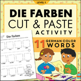 Die Farben Magazine Cut and Paste Worksheet