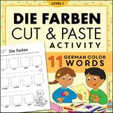 Die Farben Magazine Cut and Paste Worksheet