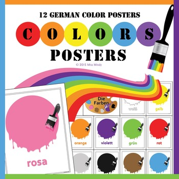 Die Farben German Colors Posters - Bulletin Board Printables