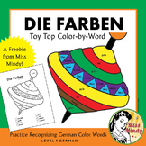 Die Farben Recognizing German Color Names Coloring Worksheet {FREEBIE}