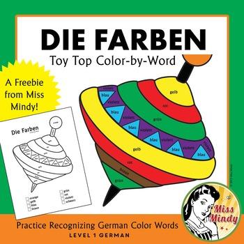 Die Farben Recognizing German Color Names Coloring Worksheet {FREEBIE}