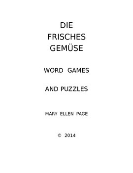 Die Frisches Gemuse  Word Games and Puzzles