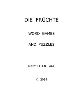 Die Fruchte Word Games and Puzzles