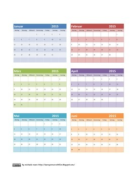 Die Monate auf Deutsch -German: Months and calendar