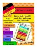 Die Monate auf Deutsch -German: Months and calendar