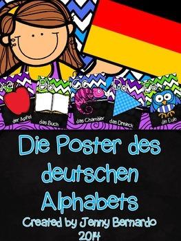 German Alphabet Posters - Die Poster des deutschen Alphabets