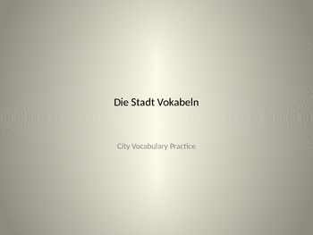 Die Stadt - German City Vocabulary PowerPoint presentation
