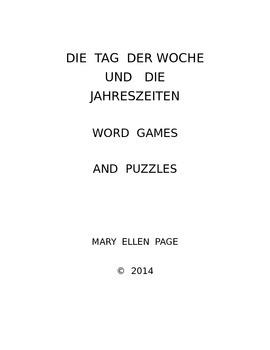 Die Tag der Woche und die Jahreszeiten  Games and Puzzles