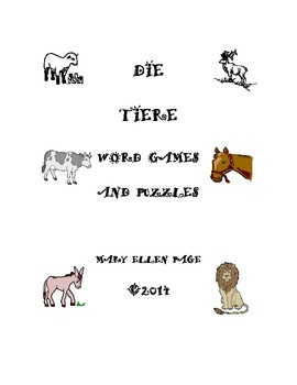 Die Tiere  Word Games and Puzzles