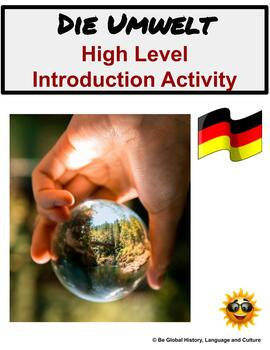(Beginning of the Year) Environment:Die Umwelt—Intro Activity for German Studies