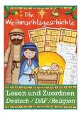 Die Weihnachtsgeschichte: Lesen und Zuordnen, German Christmas, Weihnachten