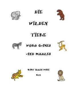Die Wilden Tiere Word Games and Puzzles