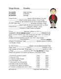 Diego Rivera Biography Worksheet: Preterite vs. Imperfect (SUB PLAN)