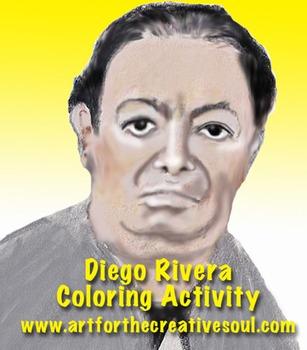 Diego Rivera Coloring Sheet