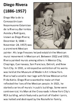 Diego Rivera Handout with activities