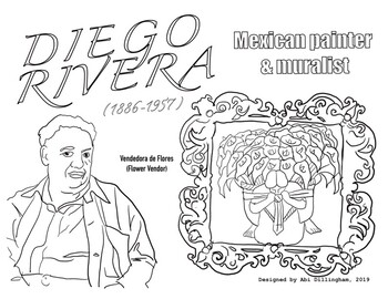 Diego Rivera (Mexican Artist) Coloring Page - Hispanic Heritage Month
