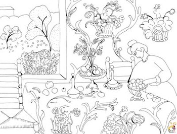 Hard Working Medieval Peasant coloring page | Free Printable Coloring Pages | 266x350