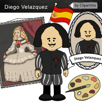 Diego Velazquez clipart -  Artists Clip Art