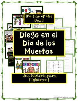 Diego en el Día de los Muertos/Day of the Dead/comic/reading