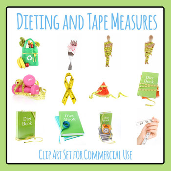 Diet Photos Clip Art Set for Commercial Use
