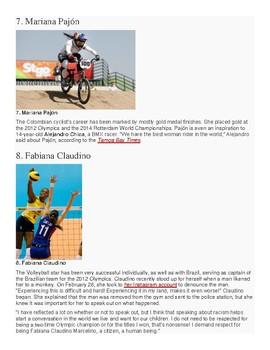 Diez Atletas Latinas Famosas  teacher info packet