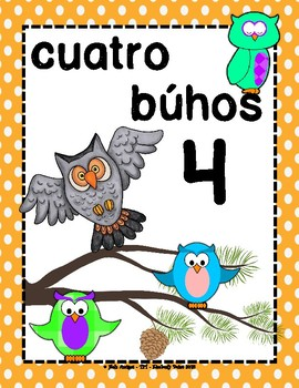 Diez Bújos - Spanish number posters + color & cut flash cards