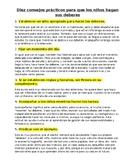 Diez consejos prácticos para que los niños hagan sus deberes