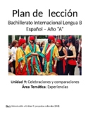 Celebraciones y comparaciones: IB Spanish unit plans