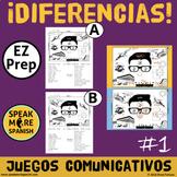 Diferencias * Juego de Comunicación en Español *Spanish Pr