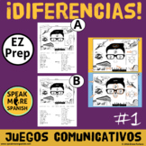 Spanish Prepositions of Location and Place.  El Juego Dife