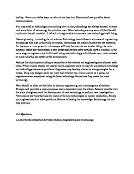 Difference Between Science, Engineering and Technology - Informational Text