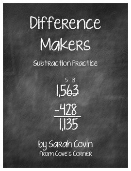 Difference Makers Subtraction Practice