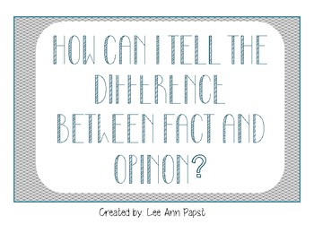 Difference between Fact & Opinion