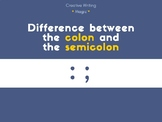 Difference between the colon and the semicolon