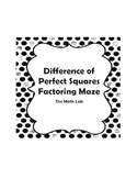 Difference of Perfect Squares Factoring Maze