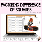 Difference of Squares Factoring Polynomials Puzzle Pixel A