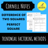Difference of Two Squares and Perfect Square Trinomial Factoring