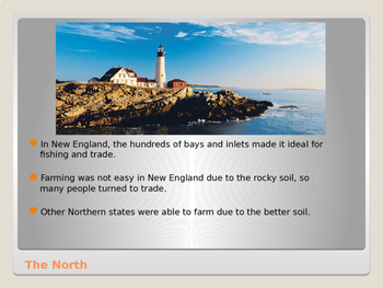 Differences Between North & South PowerPoint for Middle and High School History