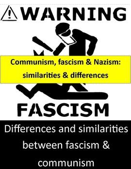 Differences Between fascism & communism graphic organizer