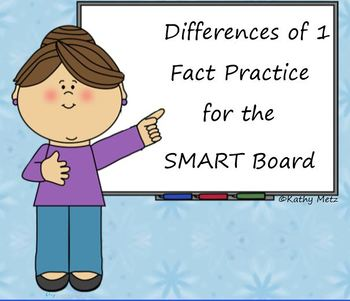 Differences of 1 Fact Practice for the SMART Board