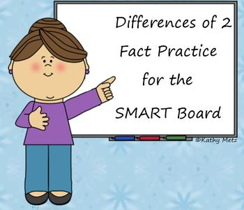 Differences of 2 Fact Practice for the SMART Board