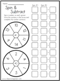 Differences to 20 - Spin and Subtract - Math Classroom Spi